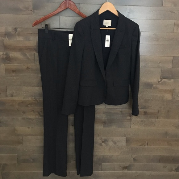 LOFT Jackets & Blazers - LOFT by Ann Taylor Suit Blazer Size 4 Pants Sz 2T
